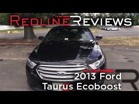 2013 Ford Taurus Ecoboost Review, Walkaround, Start Up, Test Drive