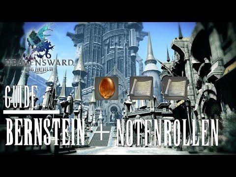 """Final Fantasy XIV #Guide - Bernstein mit Einschluss & Notenrollen """"Tenacity"""" und """"When a tree falls"""""""
