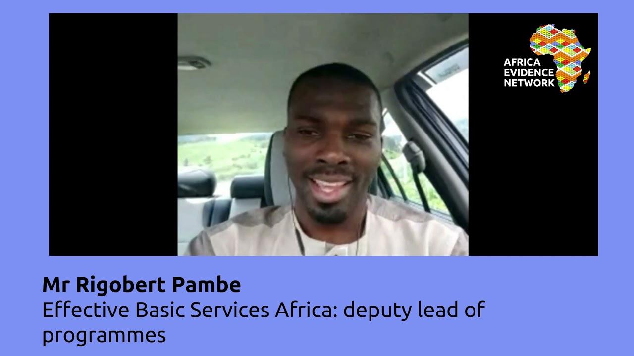Africa Evidence Week 2021: Emerging EIDM leader_Ribgobert Pambe: why I fell in love with EIDM