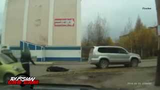 Russian Pedestrians Getting Hit and Run Over By Cars and Motorcycles Compilation Part 1