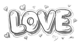 How to Draw Love in Bubble Letters - Write Love in Graffit Letters