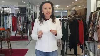 Vídeo Casaco Alfaiataria Pespontos Malise Off White