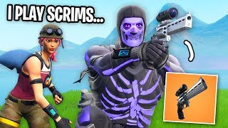 I Carried A SCRIM PLAYER with the NEW SCOPED REVOLVER  in Fortnite...
