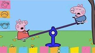 Peppa Pig - George and Peppa Pig Playing Seesaw ★19Peppa★