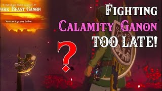 Fighting Calamity Ganon TOO LATE! ..WW Link in Zelda Breath of the Wild (Spoilers)