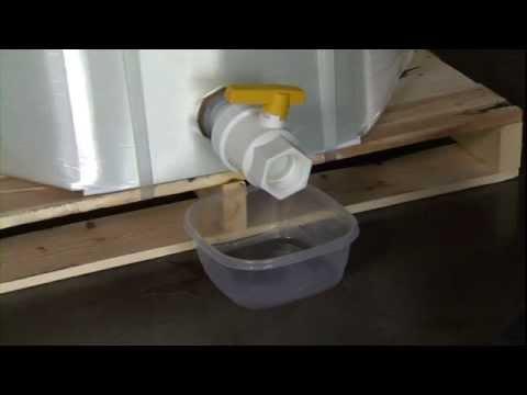 Disposable IBC EZ-BULK 48x40 Flush Evacuation with Food Grade Valve