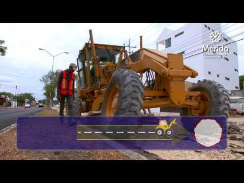 Obras de pavimentación en la ciudad. 8ª Semana
