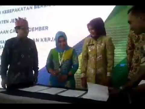 Kantor BPJS Ketenagakerjaan diresmikan bupati Jember dr Faida
