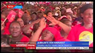 President Uhuru Kenyatta lures Voi residents in a bid to boost his August 2017 presidential bid