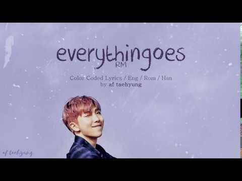 RM - Everythingoes (지나가) (with NELL) (Han/Rom/Eng Lyrics) [ Mono; Mixtape ]