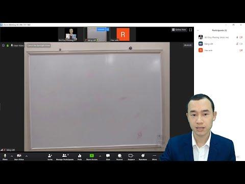 Làm thế nào để vừa viết bảng đen vừa dạy Online với zoom một cách chuyên nghiệp?