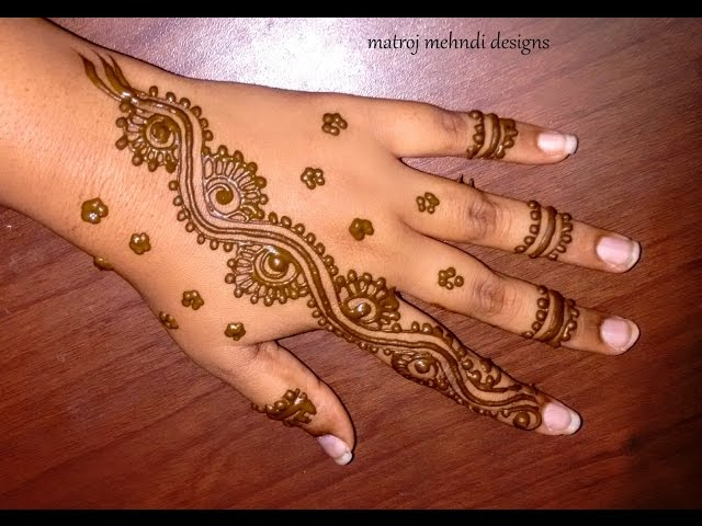 Quick Mehndi Patterns : Simple quick mehndi designs makedes