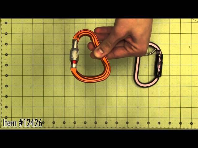 Видео Карабин Petzl ATTACHE screw-lock