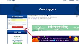 #CoinNuggets Регистрация и работа в новом проекте Майкла Вебера #Coin Nuggets