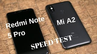 Mi A2 vs Redmi Note 5 Pro Speed Test, Multitasking, NAND Storage Comparison