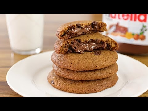 Nutella Stuffed Chocolate Chip Cookies Recipe