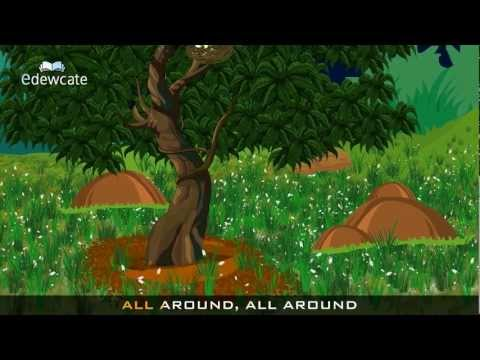 Edewcate English Rhymes - The Green Grass Grows All Around Nursery Rhyme Mp3