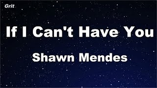 If I Can't Have You   Shawn Mendes Karaoke 【No Guide Melody】 Instrumental