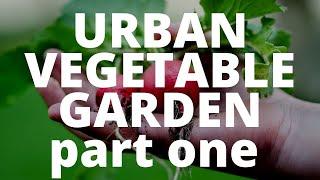Building an URBAN vegetable Garden, part one