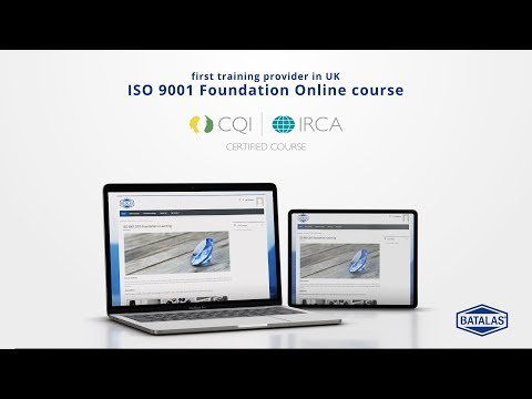 ISO 9001 Foundation ONLINE - CQI IRCA Certified - YouTube
