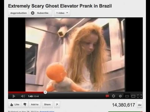 Extremely Scary Ghost Elevator Prank Newest YouTube Hit