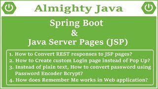 Spring Boot and JSP Tutorial | Mighty Java