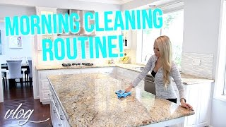 MY MORNING CLEANING ROUTINE!