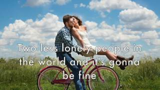 TWO LESS LONELY PEOPLE IN THE WORLD by Air Supply (with lyrics)