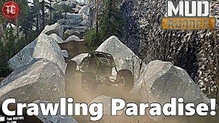 SpinTires Mudrunner: Rocks Valley Trailhead - ROCK CRAWLING PARADISE!!