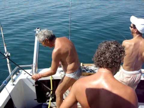 Autunno pescando su Don su un mangiatore
