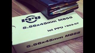 5.56x45mm, 62gr FMJ M855 (SS109 Penetrator) Prvi Partizan Velocity Test