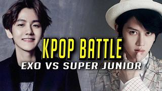 Gambar cover KPOP Stars Play League: SUPER JUNIOR (HEE CHUL) VS EXO (BAEK HYUN) Highlights (Translated)