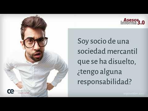 Responsabilidades de los socios en sociedades mercantiles disueltas[;;;]Responsabilitats dels socis en societats mercantils dissoltes[;;;]