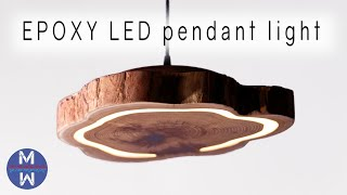 How to Make an EPOXY LED Pendant Light || woodworking & epoxy resin