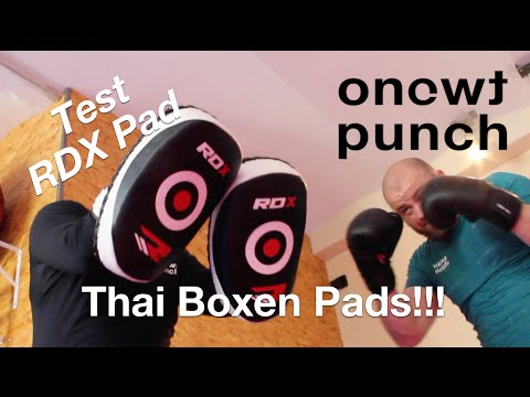 Test RDX Muay Thai pads / Schlagpolster / Schlagkissen / Thaiboxen Pratzen / Fokus Mitts Drills /