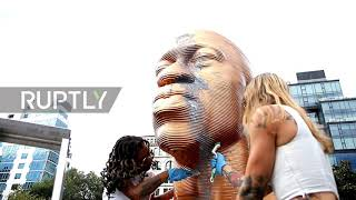 USA: George Floyd statue vandalised 2 days after unveiling in NYC