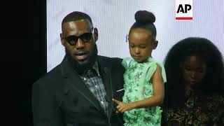 LeBron James acknowledges the power of black women in acceptance speech for Icon 360 Award at Harlem