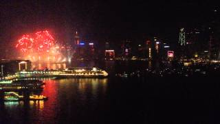 Video : China : New Year's Eve firework display, 2014 : Hong Kong 香港