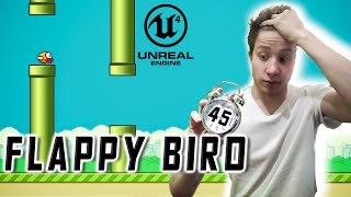 Flappy Bird in Unreal Engine under 45 minutes (UE4 TUTORIAL) Video game development