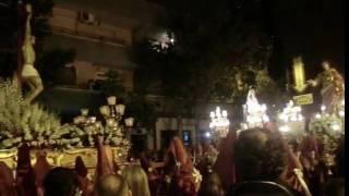 preview picture of video 'Encuentro del Cristo de la Paz, La Virgen y San Juan (Jueves Santo, Zarandona, 2011)'
