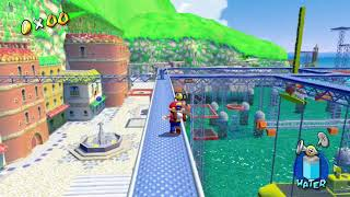 Super Mario Sunshine - Ricco Harbor - Shadow Mario Revisited - Shine 19/120 HD