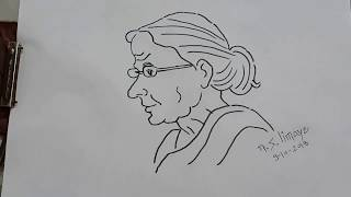 How To Make A Face Of Very Old Age Women | Step By Step For Beginners By N.S.Limaye'sArt