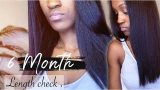 Hair Update   6 Month Hair Growth   Natural Hair Length Check