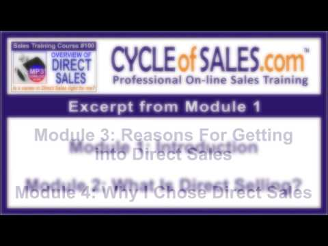 Overview To Direct Sales Training Course 100 - YouTube