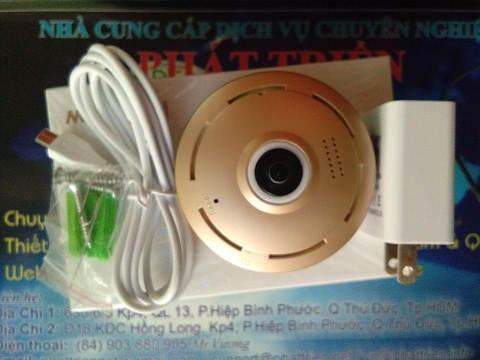 VR Camera ip360-T Camera ip wifi 360 độ 1.3M