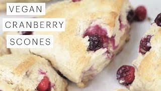 Vegan Recipe: Cranberry Scones (The Queens Favorite) | Edgy Veg