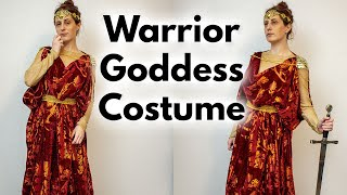 WARRIOR GREEK GODDESS COSTUME - DIY Inspiration, Sewing, Design, And Modeling Vlog