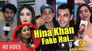 Hina Khan Fake Hai? | Bigg Boss 11 Evicted Contestants Reaction On Hina | Hiten, Arshi, Priyank, Luv