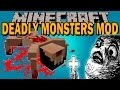 DEADLY MONSTERS MOD - El exorcista en minecraft!! - Minecraft mod 1.10.2, 1.11 Review