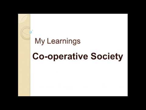 Cooperative Society and its types CBSE/NCERT Class XI Business Studies